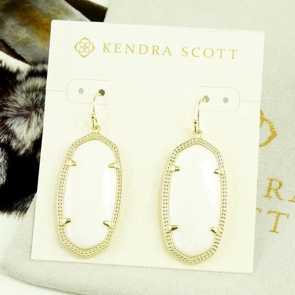 1964e102c Kendra Scott Jewelry   Elle Earrings White Pearl Gold Tone   Poshmark